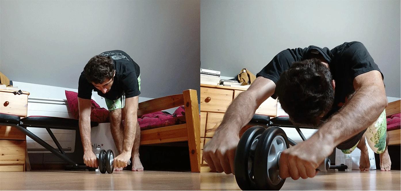 Avoir des abdos en béton grâce à l'abs roller (roulette)